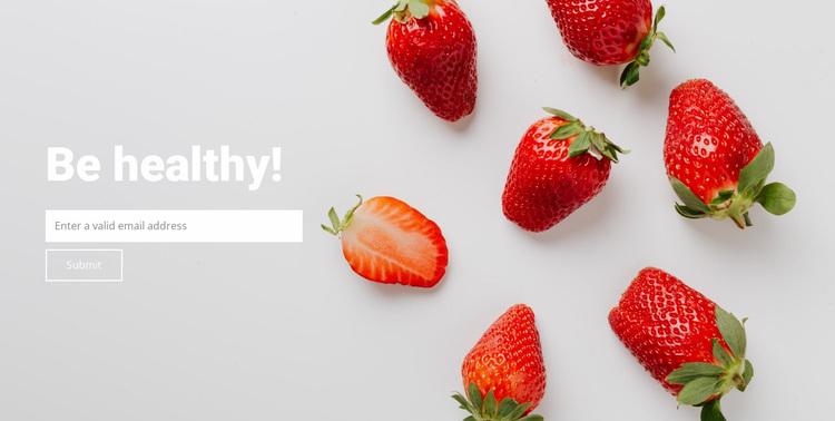 Be healthy eat fruit Website Design