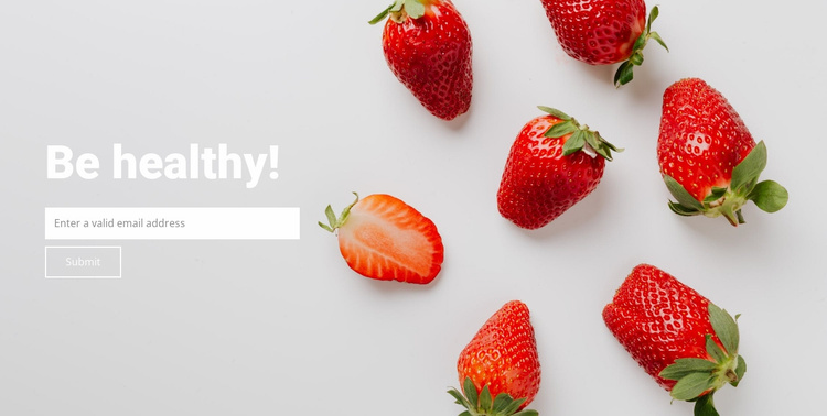 Be healthy eat fruit Landing Page