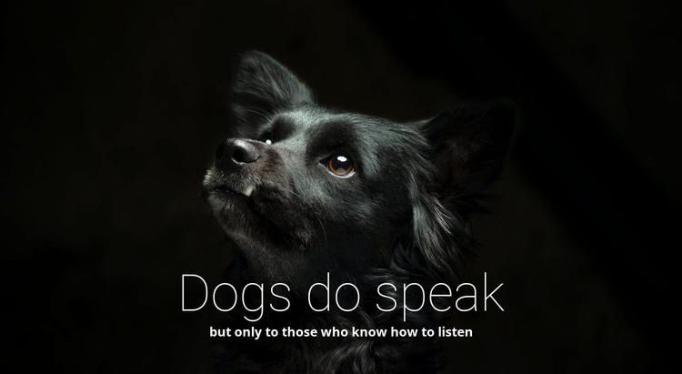 Dogs do speak Website Template