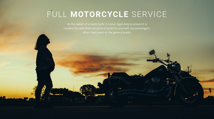 Full motorcycle services Landing Page