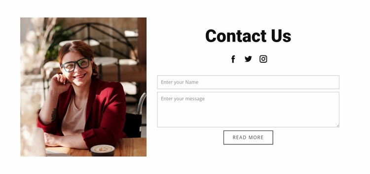 Contact with business studio Website Template