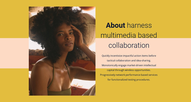 Multimedia coloboration Html Website Builder