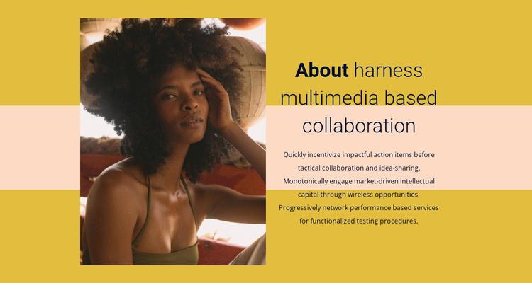 Multimedia coloboration Website Template