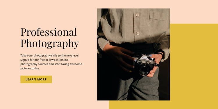 Professional Photography Website Template