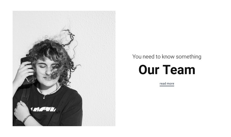 You need know our team HTML Template