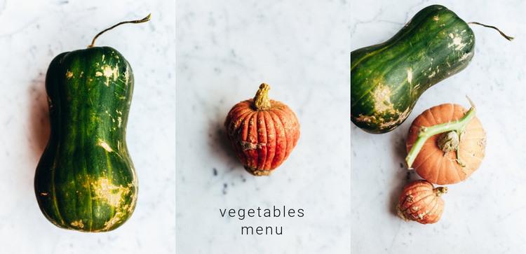 Vegetables menu WordPress Theme