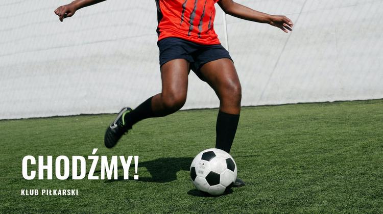 Trening piłki nożnej Szablon Joomla