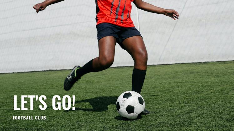 Football training WordPress Website Builder