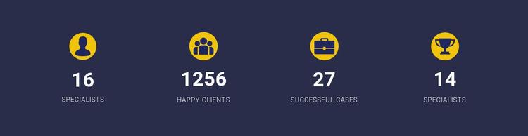 Company Achievements Html Website Builder