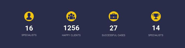 Company Achievements Website Mockup