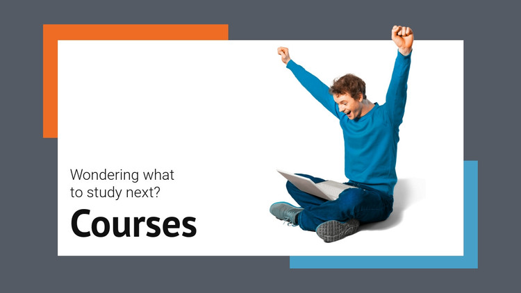 Development courses Homepage Design