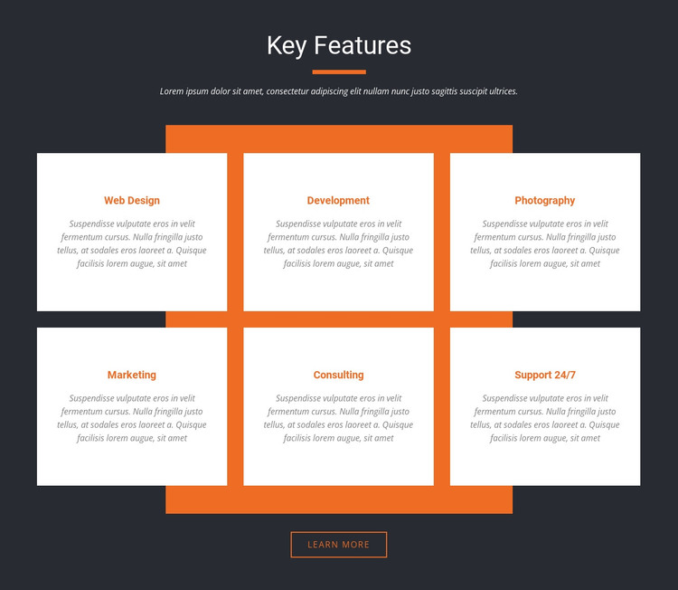 Important characteristics HTML Template