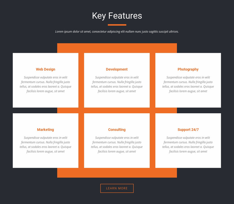 Key Features Website Builder