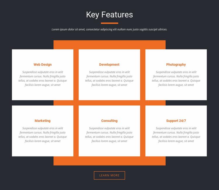 Key Features Website Design