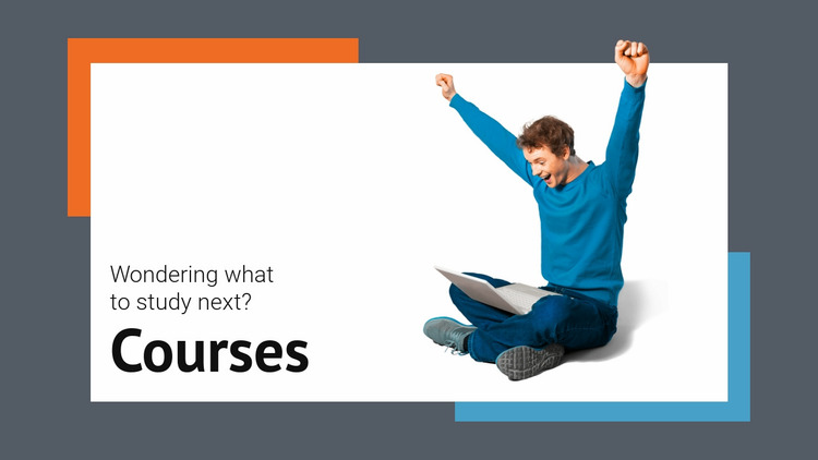 Development courses Website Mockup