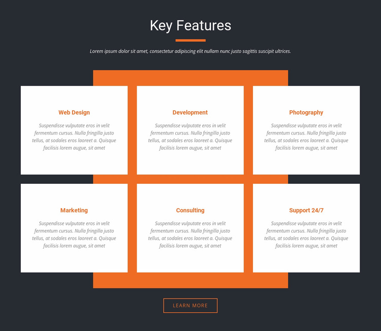 Important characteristics Website Template