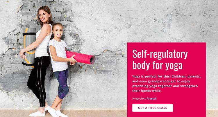 Family Yoga Class Website Template