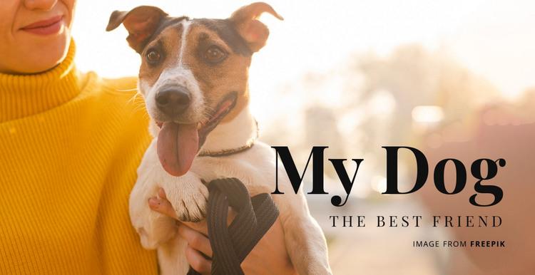 My Dog HTML Template