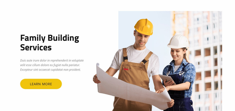 Building Services Website Template