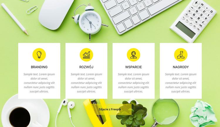 Usługi agencji kreatywnych Szablon witryny sieci Web