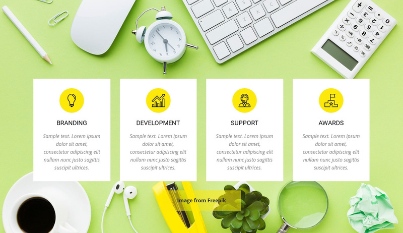 Creative Agency Services Web Page Design