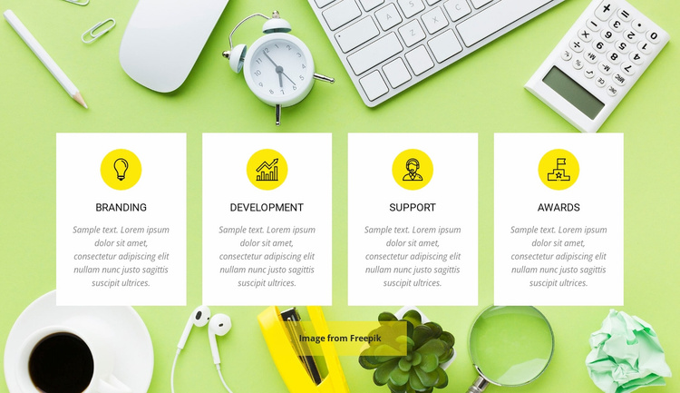 Creative Agency Services Website Template
