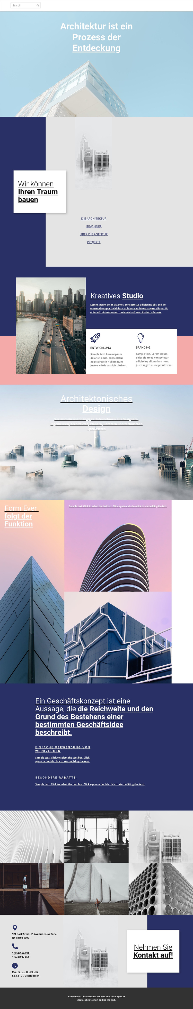 Wunder der Architektur Website-Vorlage