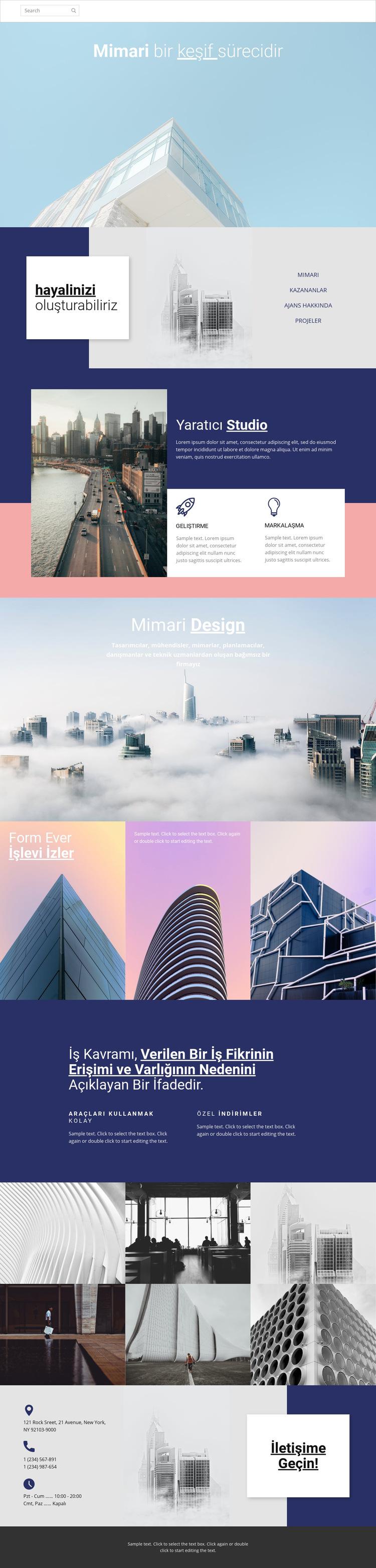 Mimari harikaları Web Sitesi Şablonu