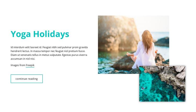 Yoga Holidays Joomla Template