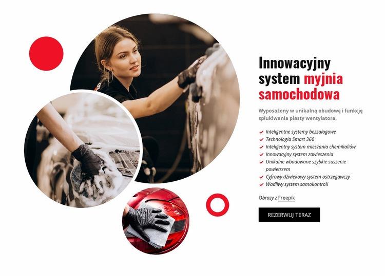 Innowacyjny system myjni samochodowej Szablon Joomla