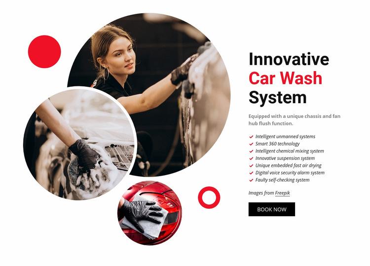 Innovative Car Wash System Web Page Design