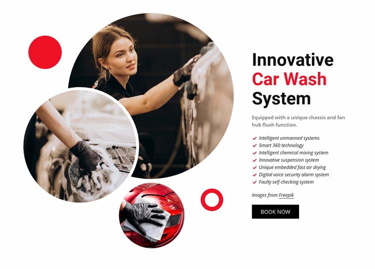 Innovative Car Wash System Web Page Designer