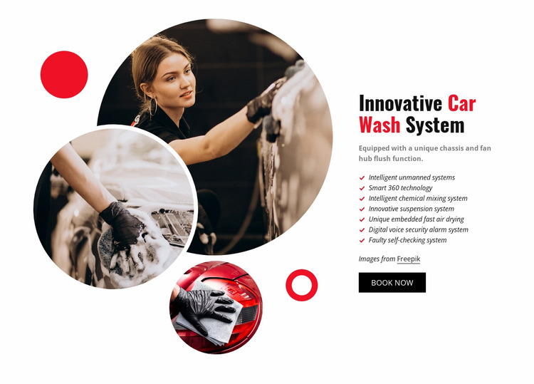 Innovative Car Wash System Website Mockup