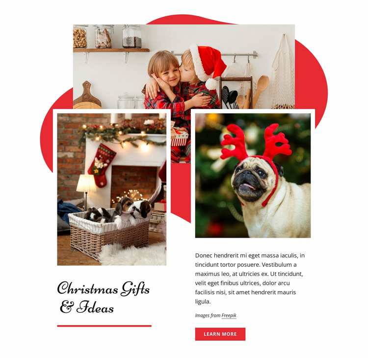 Cristnas gifts & ideas Landing Page