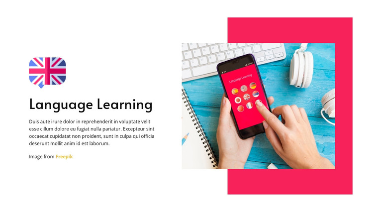 Language Learning HTML Template