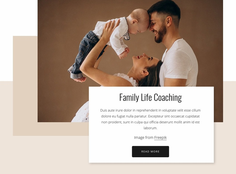 Family life coaching Html Code Example