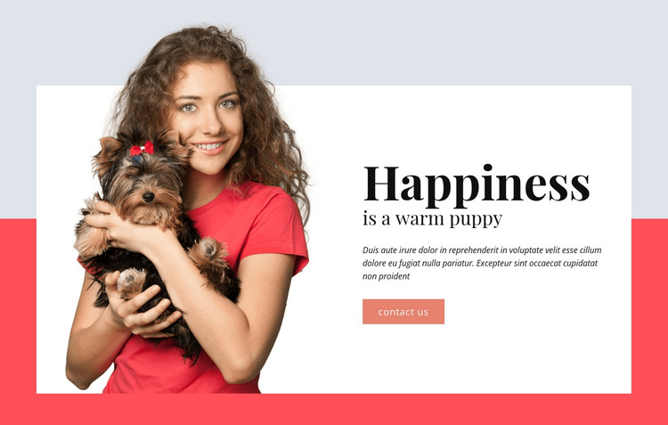 Happiness is a Warm Puppy HTML Template