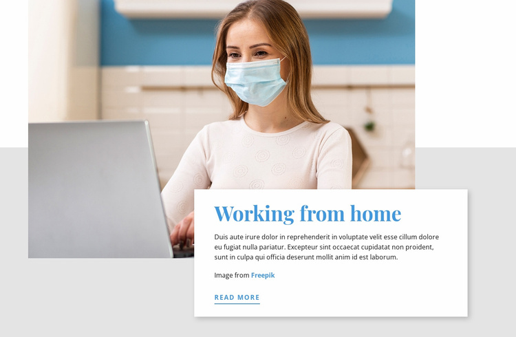 Working from Home During COVID-19 Website Template
