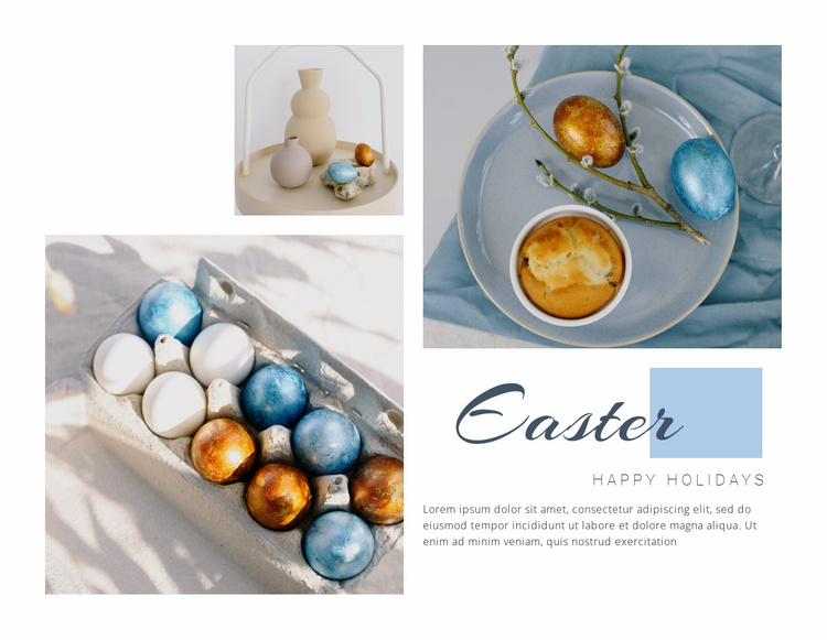 Easter holiday Website Template
