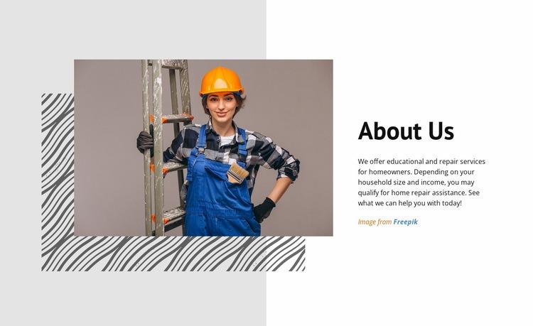 Home Repair Company WordPress Website Builder
