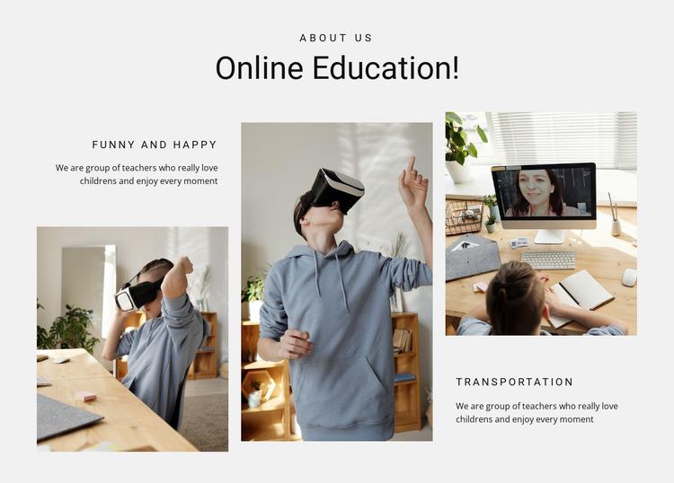 Online education Website Mockup