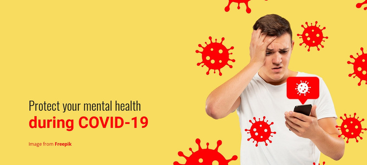 Protect Mental Health During COVID-19 Website Template