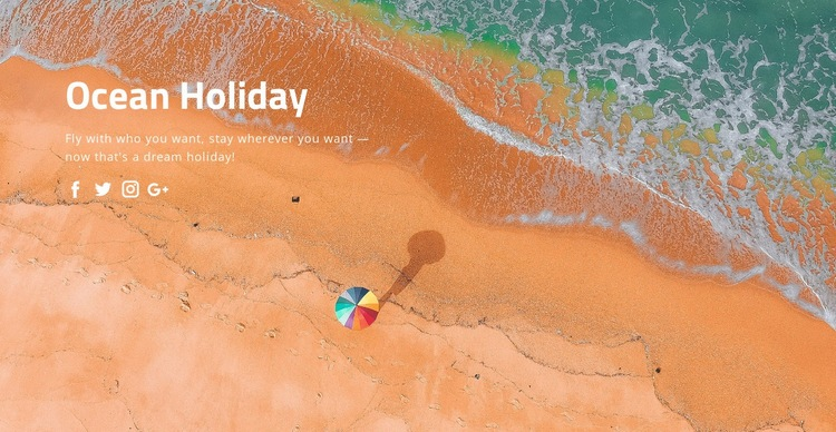Ocean holiday Html Code Example