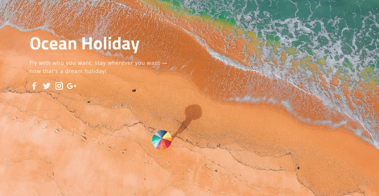 Ocean holiday HTML Template