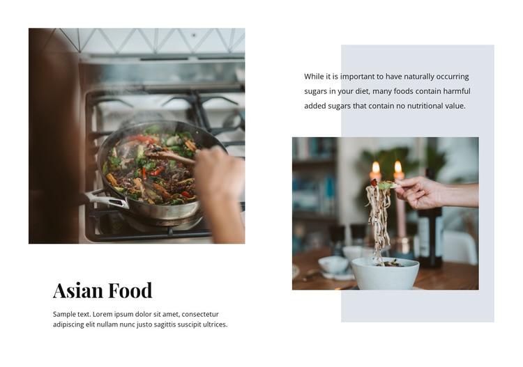 Asian food restaurant  HTML Template