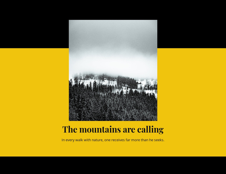 The mountain is calling Website Template