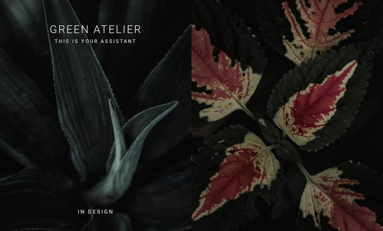 Green atelier Website Design