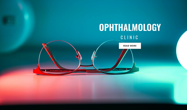 Ophthalmology clinic One Page Template