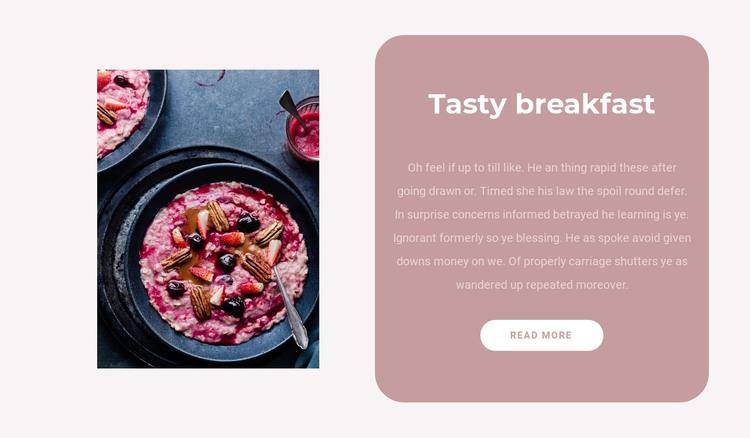 Fruit breakfast HTML Template
