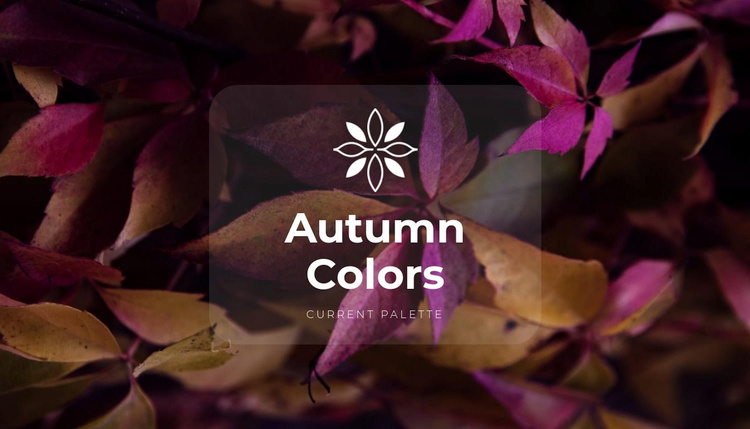 Bright fall colors Website Template